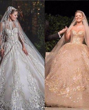 إيلي صعب عن فستانين عروس نجلته: سرقت الأنظار بإطلالتها الملكية