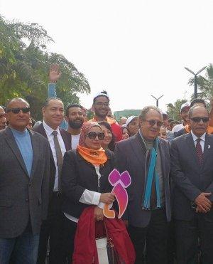 القومي للمرأة يطلق يوم رياضي بجامعة مصر