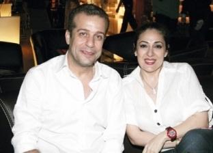 شريف منير وزوجته