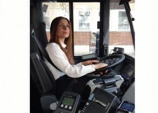 جوري كحل فلسطينية تعمل سائقة حافلات بالسويد