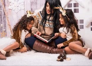 مروة مع بناتها