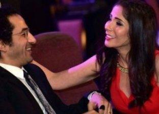 أحمد حلمي يهنئ زوجته