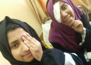 الفلسطينية الجريحة مي سليمان وصديقتها