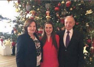 الكاتب الصحفي الراحل إبراهيم سعدة وزوجته نادين