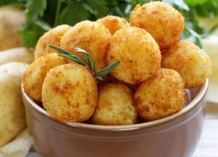 كرات البطاطس بحشو المشروم