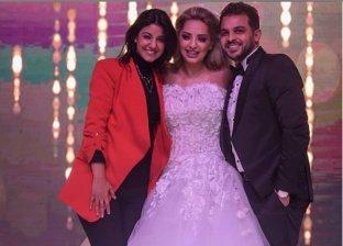 بالفيديو| غناء وزغروطة.. ياسمين على تشارك الثنائي رشاد ومي حلمي حفل زفافهم