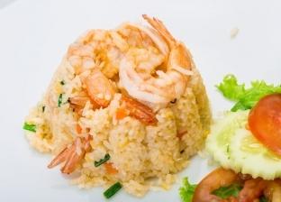 طبق ارز الصيادية بالجمبري