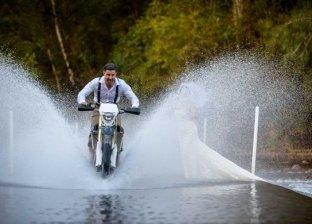 جلسة تصوير مبتكرة لحفل زفاف
