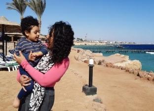 أميرة رضا تشارك في منتدى شباب العالم بصحبة ابنها الاصغر
