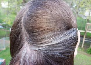 شعر أبيض