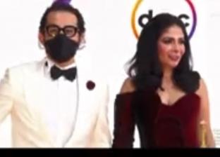 الفنان أحمد حلمي وزوجته منى زكي