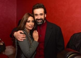 كريم عبدالعزيز وزوجته هايدي