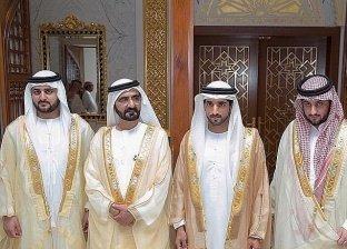 محمد بن راشد يحتفل بعقد قران 3 من أبنائه