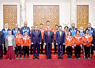 السيسي يكرم الرياضيين الحاصلين على بطولات قارية وعالمية