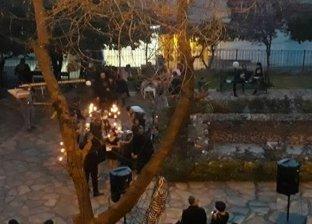 حفل زفاف بالأسود والجماجم والدم يثير ريبة اللبنانيين