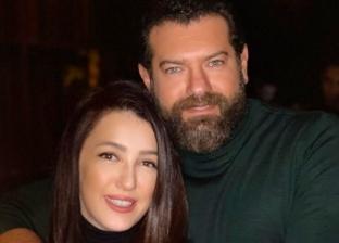 الفنانة كندة علوش مع زوجها عمرو يوسف