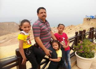 الشهيد أحمد عبد النبي وبناته