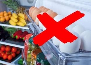 تخزين البيض في باب الثلاجة