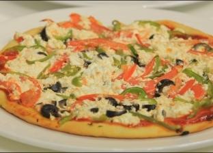 بيتزا بالجبن القريش