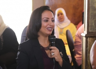 مايا مرسى خلال مؤتمر دعم النساء المعنفات
