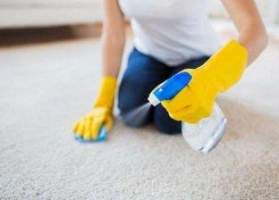 سيدة تطهر المنزل