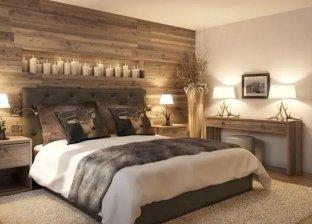 أفكار لتزين الحائط وراء السرير