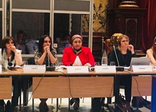 مايا مرسى خلال الحوار الاقليمى لدول الاتحاد