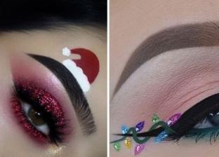 مكياج العيون في الكريسماس