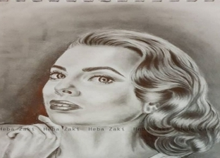لوحة لرسامة الشابة هبة زكي