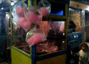عربة طه لبيع غزل البنات