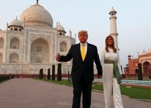 ميلانيا وترامب في الهند