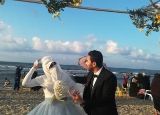 حفل زفاف على شواطئ مصيف بلطيم