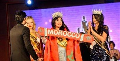 لحظة تتويج المغربية شيرين حسني بلقب ملكة جمال العرب 2018