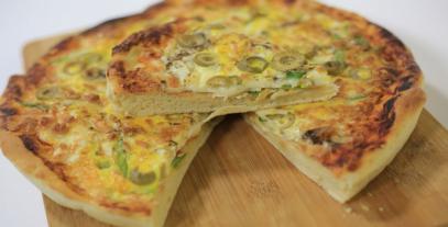 بيتزا البيض