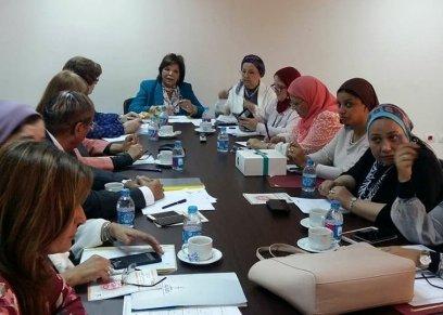جانب من اجتماع المجلس القومي للمرأة