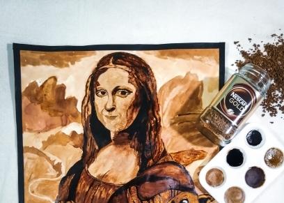 إسراء حسنين تبدع في فن الرسم بالأكل