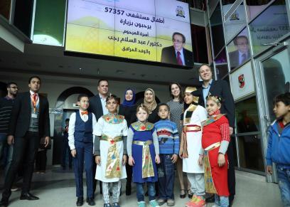 القرية الفرعونية تستضيف أطفال مستشفى 57357 وتقيم لهم يوم ترفيهي