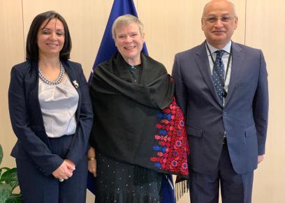 مايا مرسي  تلتقي نائب سكرتير حلف الناتو في بروكسل لبحث جهود تمكين المرأة