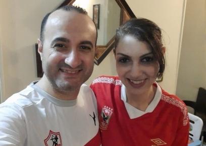 الزوجان «مصطفى ودينا»
