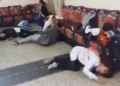 بالفيديو| نوبات من الصراخ الهستيري لفتيات مغربيات والسبب  مجهول