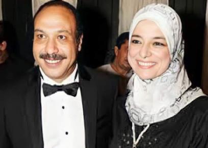 الفنان الراحل خالد صالح وزوجته الراحلة