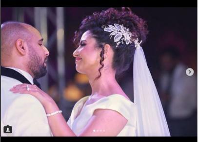 نسمة محجوب تنشر صور من جلسة التصوير الخاصة بحفل زفافها