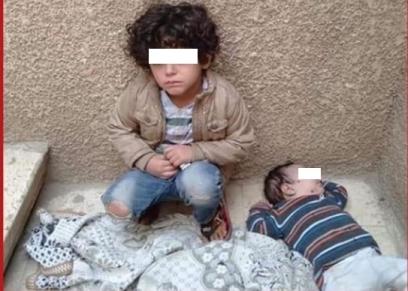 تعرض طفلين للإهمال من الأسرة