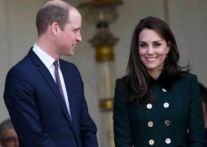 الأمير ويليام يمزح مع كيت ميدلتون ويشبهها بشجرة الميلاد
