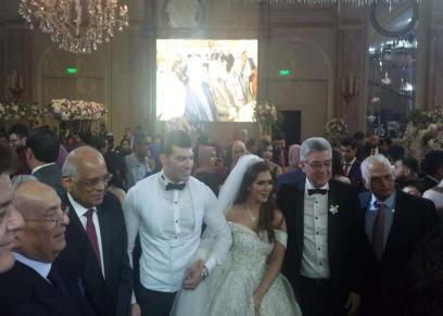 بالصور| محمد حماقي وبوسي يشعلان حفل زفاف رشا الكيال وخالد هاني اباظة بحضور رئيس مجلس النواب