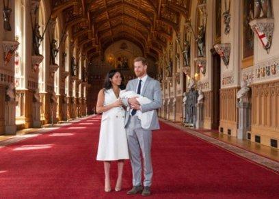 الأمير هاري وزوجته ونجله