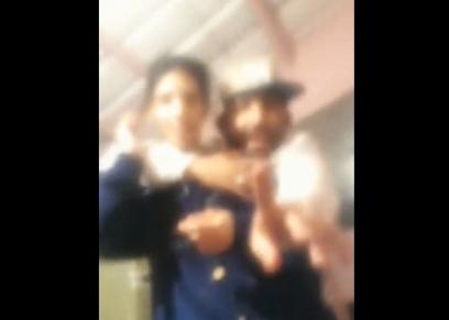 صورة من مقطع فيديو مسيء للفتاة