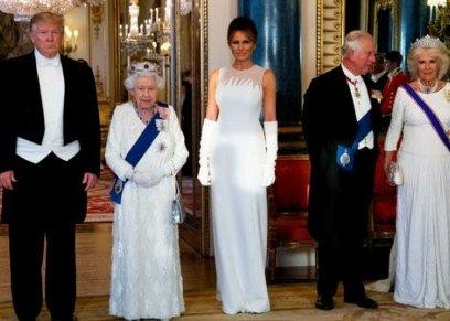الملكة اليزابيث والرئيس الأمريكي ترامب