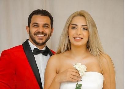 صورة لمي حلمي ومحمد رشاد قبل انفصالهم