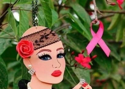 أحد التصميمات لدعم أبطال السرطان